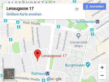 Karte Therapiezentrum Lenaugasse